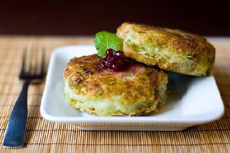 Bánh khoai tây bắp cải chiên