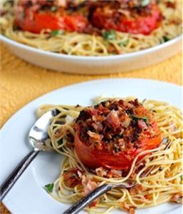 Spaghetti Cà chua nướng