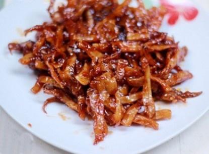 Mực khô ngào ớt