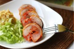 Thịt gà cuộn tỏi nướng