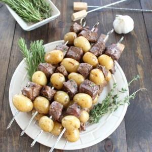 Thịt bò xiên khoai tây nướng