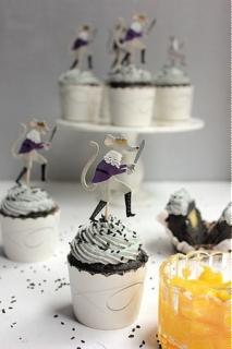 Cupcake vừng đen sốt bơ chanh