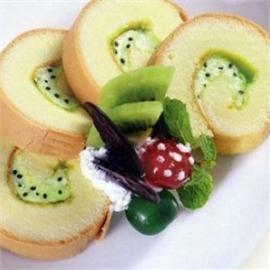 Bánh bông lan cuộn sữa chua Kiwi