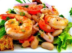 Salad tôm đậu đỏ