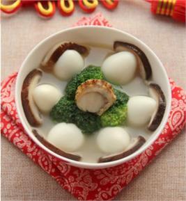 Canh trứng cút nấu nấm