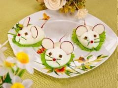 Trứng nhồi phomai hình chuột bạch dễ thương