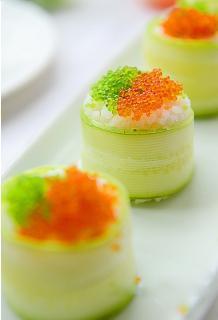 Sushi cuộn dưa chuột