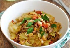 Bắp cải xào thịt bò kiểu Thái