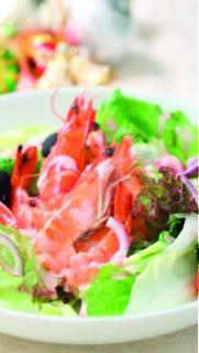 Salad tôm tươi ngọt
