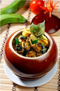 Ốc bươu nấu chuối đậu