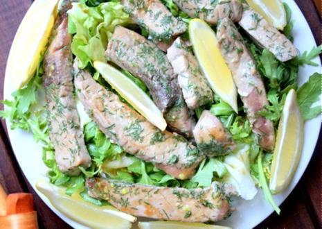 Cá ngừ trộn wasabi