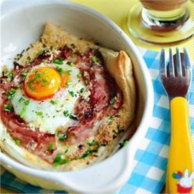 Bánh trứng giăm bông
