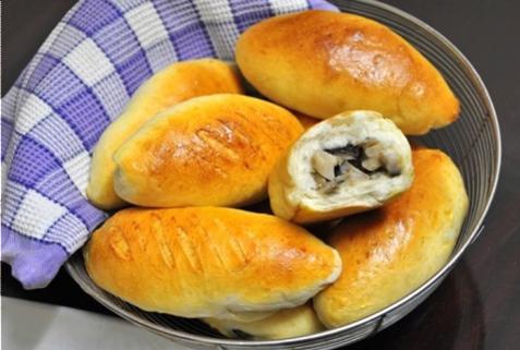Bánh mì nhân gà nấm