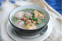 Canh khoai sọ nấu đậu