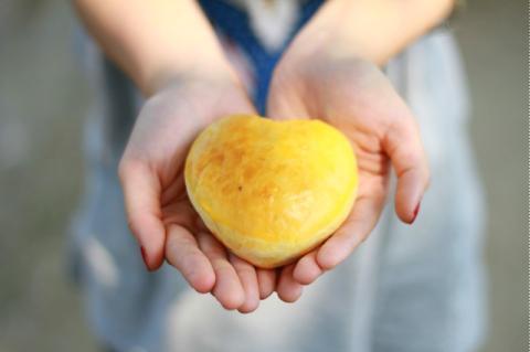 Bánh mì ngọt hình trái tim