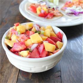 Salad xoài cà chua