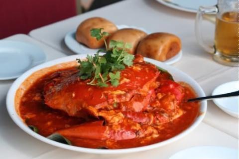 Cua xào cà ri kiểu Thái