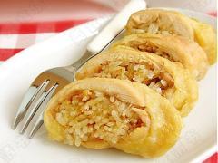 Gà cuộn cơm