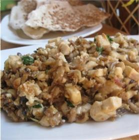 Bánh đa xúc nấm đậu