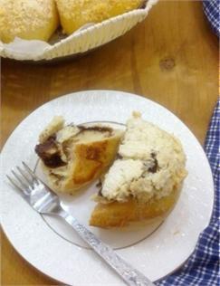 Bánh mì dừa nhân socola