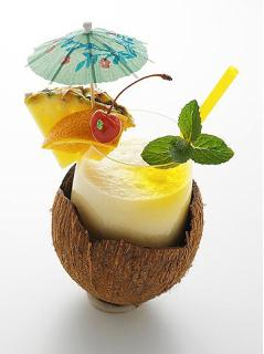 Sinh tố dừa thơm