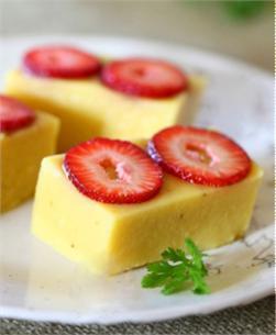 Thạch đậu xanh dâu tây