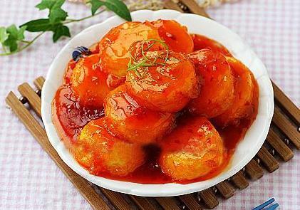 Đậu hũ trứng sốt chua ngọt
