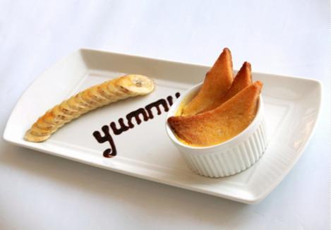 Pudding chuối bánh mì