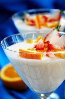 Pudding sữa chua cam
