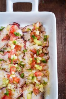 Râu bạch tuột trộn salad