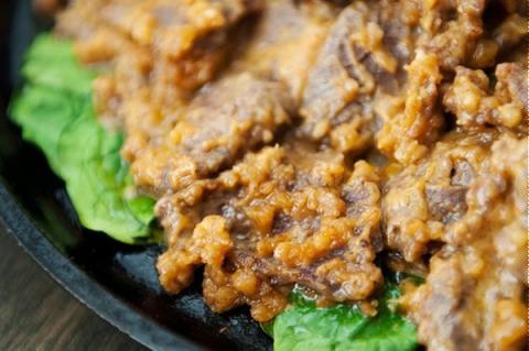 Thịt bò xào sốt đậu phộng