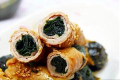 Thịt cuộn rong biển