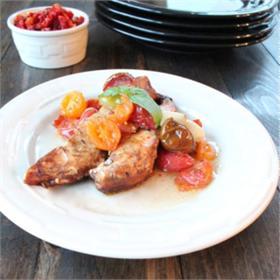 Thịt gà om cà chua