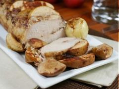 Thịt lợn thăn hầm táo