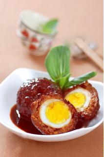 Thịt xay bọc trứng