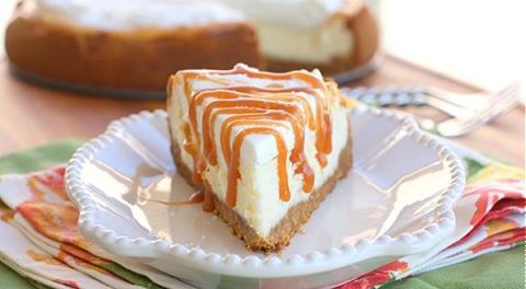 Cheese cake nướng phủ caramel