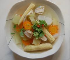 Canh thập cẩm rau củ quả chay