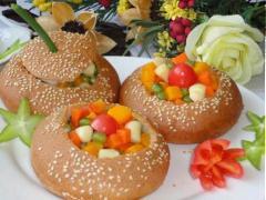 Bánh mì nhồi rau củ