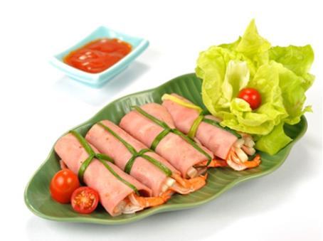 Bacon cuộn ngó sen tôm