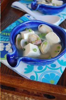 Canh ngao đậu hũ thịt muối