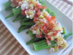 Salad đậu bắp