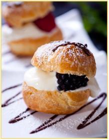 Bánh Mini cream puffs