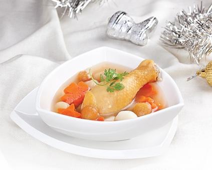 Thịt gà nấu long nhãn