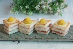 Bánh mỳ sandwich nướng mứt dâu với khoai lang