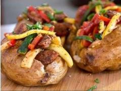 Khoai tây nướng rau củ