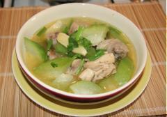 Canh bí nấu thịt gà