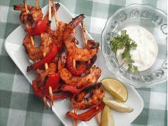 Tôm nướng kiểu Địa Trung Hải