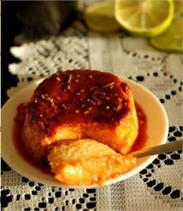 Bánh flan chanh dừa