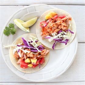 Tacos cá hồi kiểu Mexico
