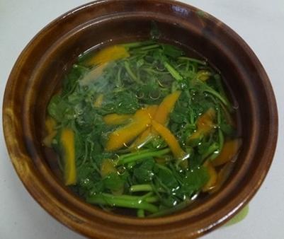 Canh cải xoong cà rốt